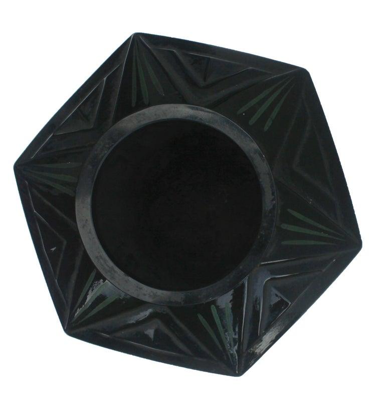 Molded Scailmont Art GlassVase Designed by Henri Heemskerk, Made in Belgium For Sale