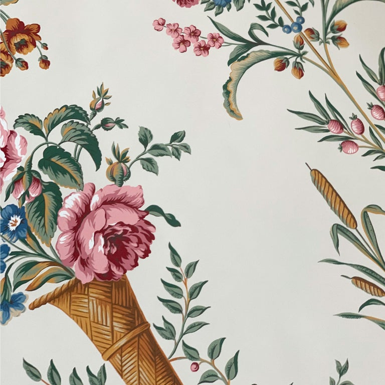 Scalamandre Hand-Printed Irish Historical Society Dublin Panel Wallpaper, 1984 In Good Condition For Sale In Brooklyn, NY