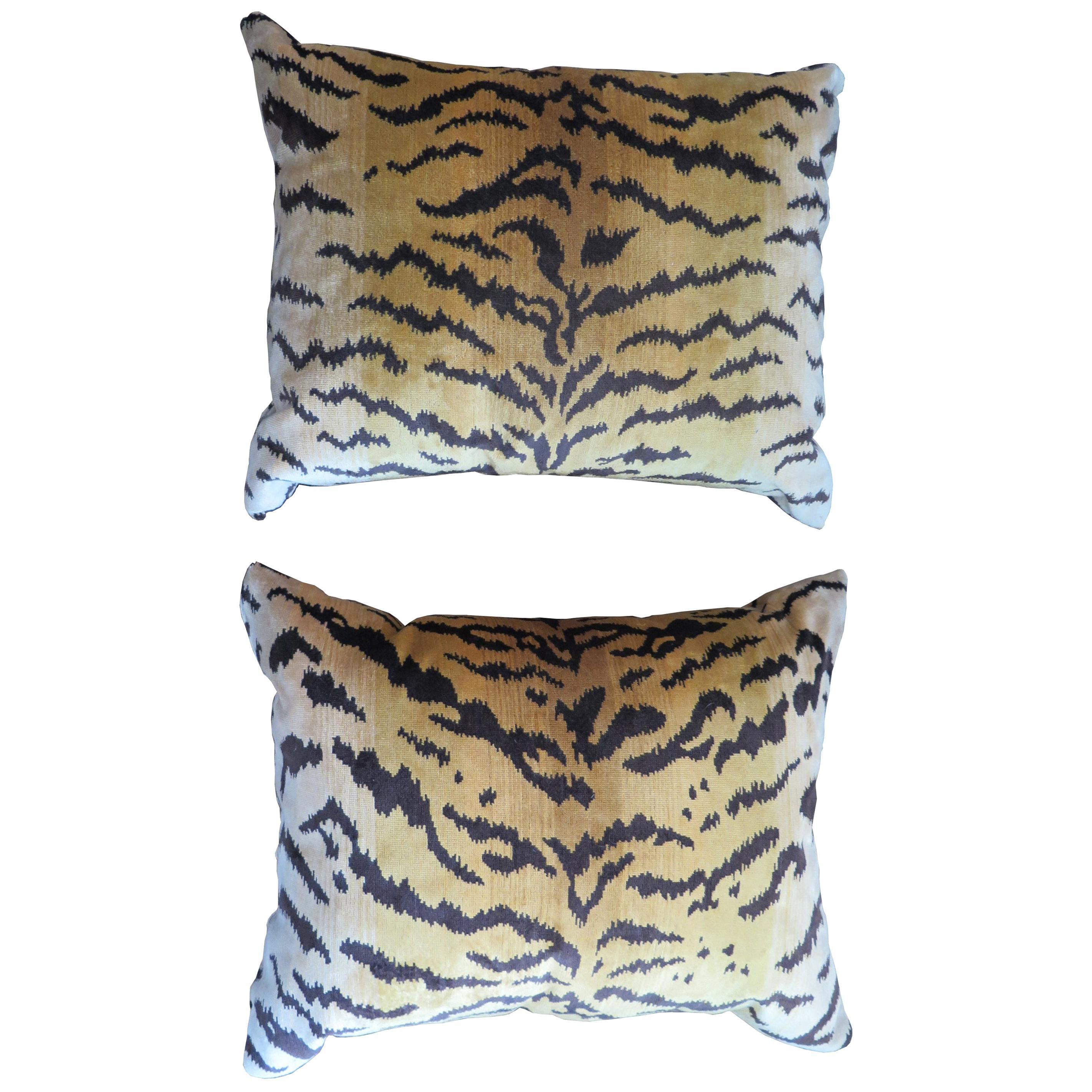 Scalamandré Le Tigre Silk Velvet Pillows