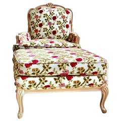 Scalamandre Old World Weavers Floral Armchair Bergère Lounge with Ottoman