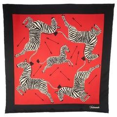 Scalamandre Red & Black Silk Zebra Scarf