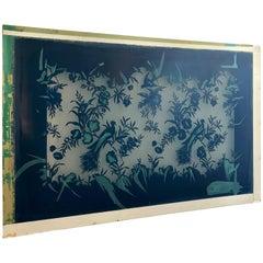 """Scalamandre Screen Print Block Titled """"Bluebird"""", Contemporary Art Work"""