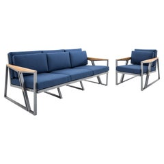 Scalene Outdoor Three-Seat Sofa and Chair Set