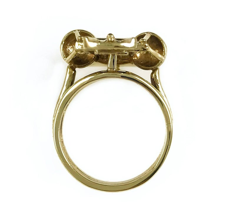 Women's or Men's Scales of Justice Gold Ring For Sale