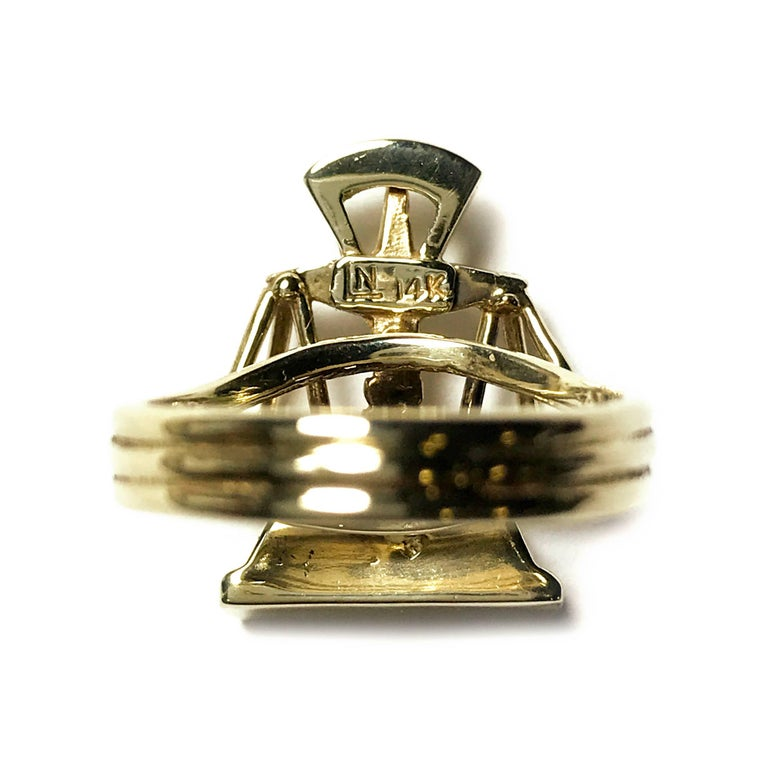 Scales of Justice Gold Ring For Sale 1