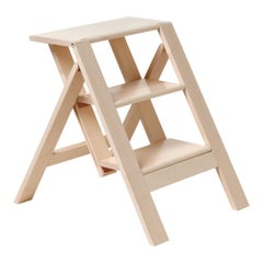 Scaletta Pieghevole Wooden Collapsable Ladder Table by Bottega Ghianda