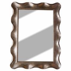 Scallop Silver Leaf Venetian Wall Mirror by Nancy Corzine