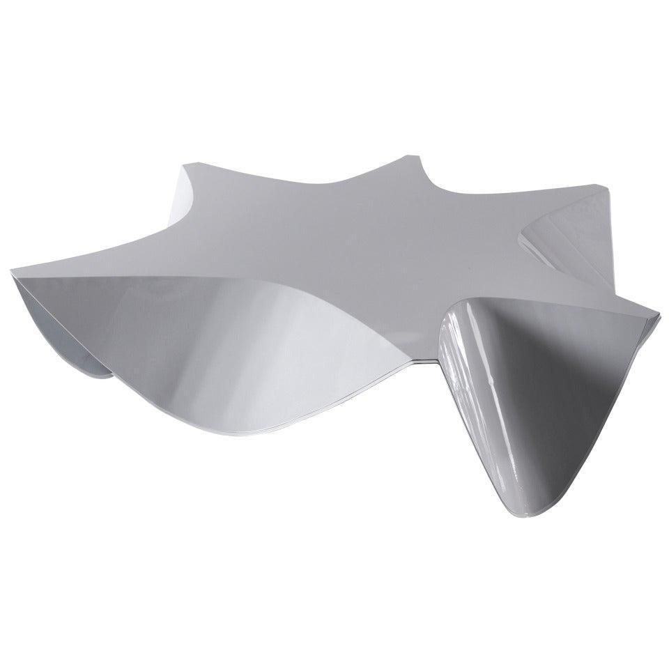 Scallop Unique Coffee Table Powder-Coated White Steel by Aranda\Lasch