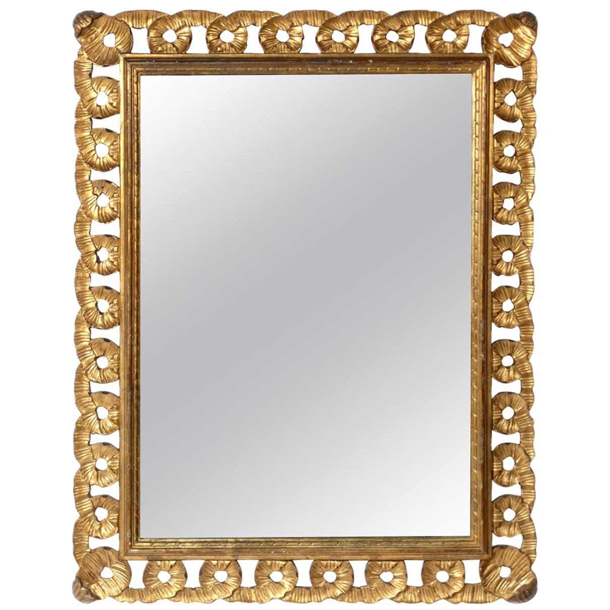 Scalloped Gilt Mirror, circa 1940s