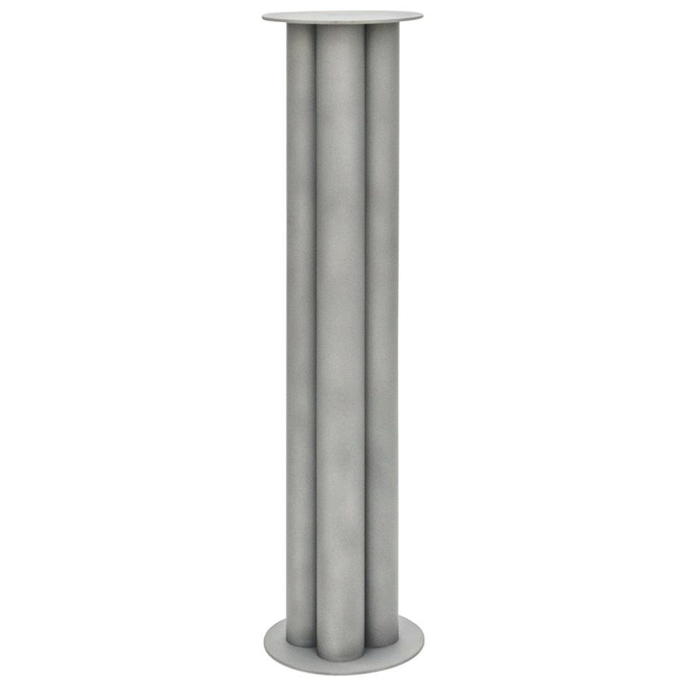 Scalloped Large TOTEM or Pedestal in Polished, Brushed, or Sandblasted Aluminum