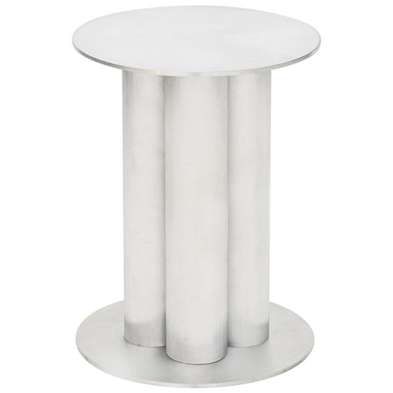 Scalloped Small TOTEM or Pedestal in Polished, Brushed, or Sandblasted Aluminum