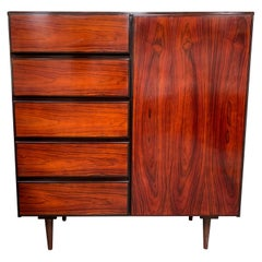 Scan Coll Danish Red Wood Storage Cabinet