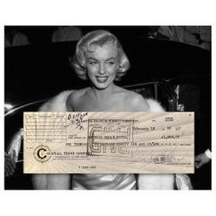 Scandalous Marilyn Monroe Vintage 1960 Autographed Bank Cheque
