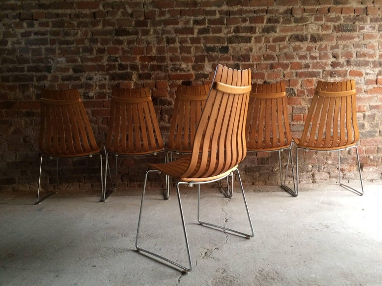 Scandia dining chairs by hans brattrud for hove mobler for Furniture hove