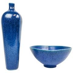 Scandinaivan Modern Vase and Bowl Berndt Friberg, Gustavsberg, Sweden
