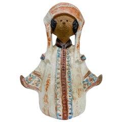 Scandinavia Ceramic Pottery Decorative Doll Vase Pot or Candle Holder