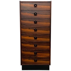 Scandinavia Modern Brazilian Rosewood Chest of Drawers Made in Sweden