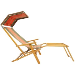 Scandinavia Traveling Outdoor Lounge Chair, Sweden 1950 Luchs