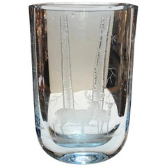 Scandinavian 1950s Modern Glass Vase