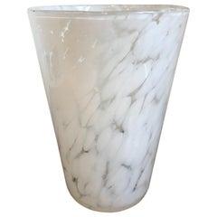 Scandinavian 1970s Mottled Glass Vase