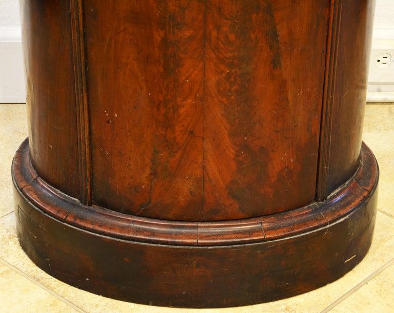 Scandinavian 19th Century Figured Flame Mahogany Oval Pedestal Cabinet 3