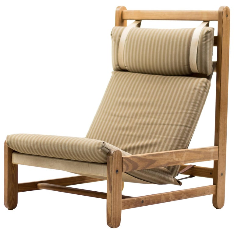 Scandinavian Architectural Sling Chair For Sale