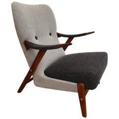 Scandinavian Armchair 1960s-1970s, Wool, Completely Restored