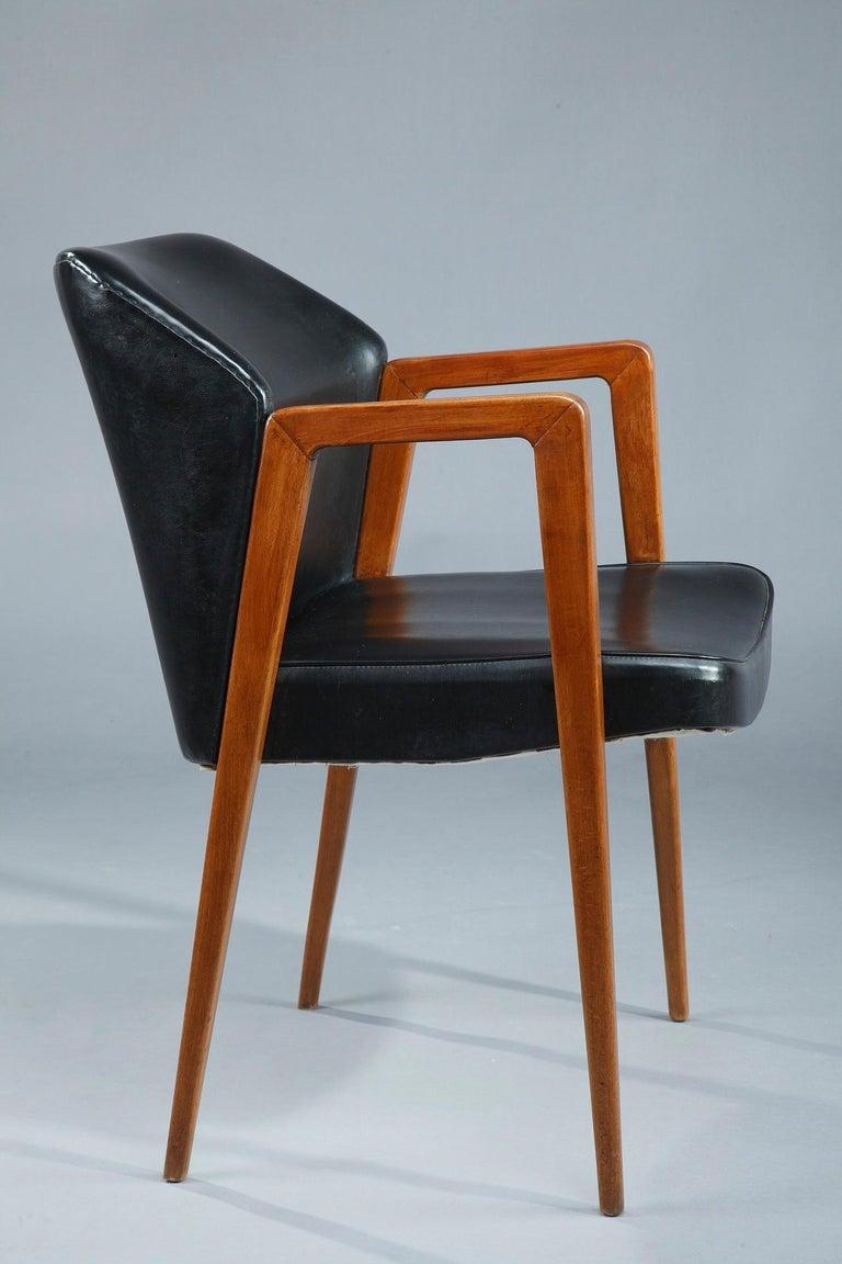 Danish Scandinavian Armchair by Arne Vodder for Sibast, 1950 For Sale