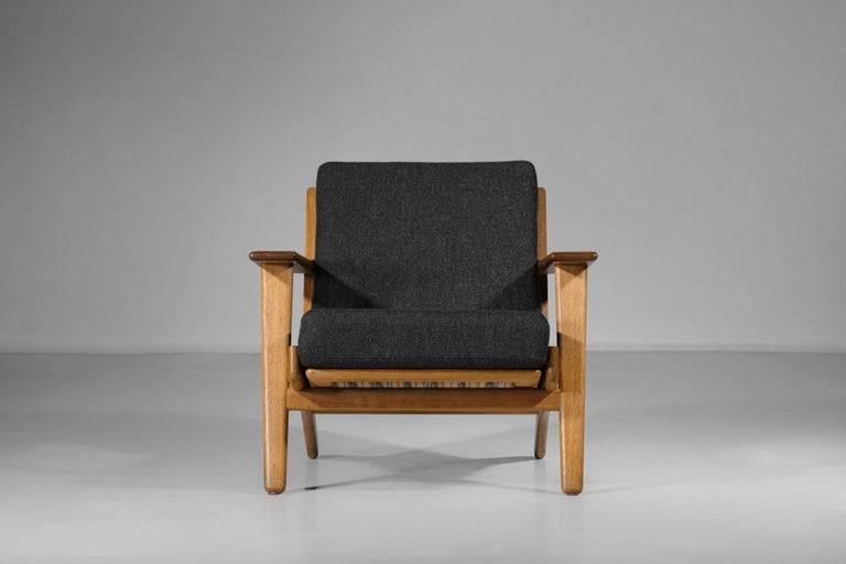 Scandinavian Armchair GE 290 by Hans Werner from 1953 for GETAMA Danish For Sale 4