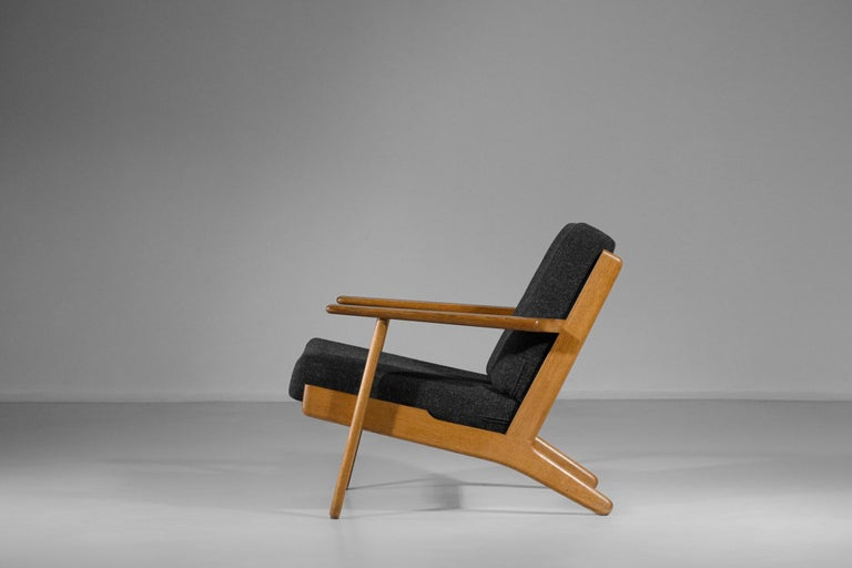 Scandinavian Armchair GE 290 by Hans Werner from 1953 for GETAMA Danish In Excellent Condition For Sale In Lyon, FR