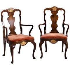 Scandinavian Armchairs in Walnut