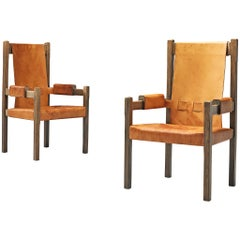 Scandinavian Armchairs with High Backs