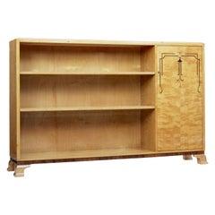 Scandinavian Art Deco Birch Open Bookcase