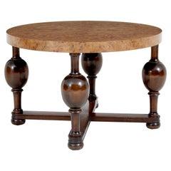 Scandinavian Art Deco Burr Elm Coffee Table