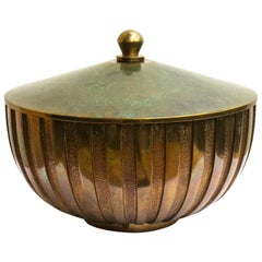 Scandinavian Art Deco Decorative Bronze Bowl from Denmark by Tinos