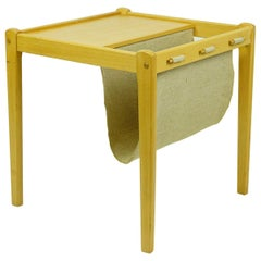 Scandinavian Beech Side Table with Magazine Rack by BRDR Furbo Denmark