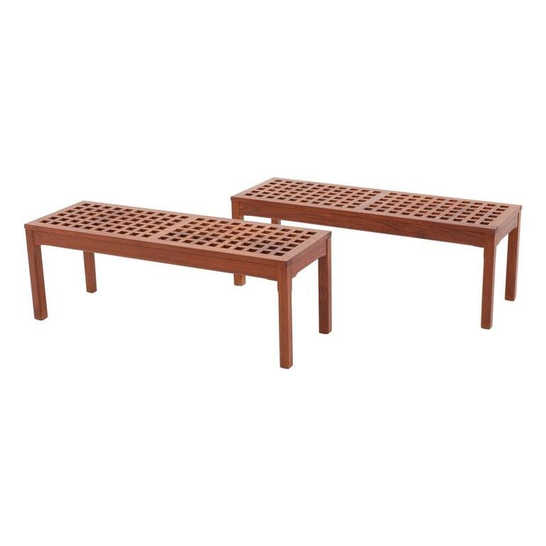 Scandinavian Benches in Teak by John Vedel-Rieper for Källemo, 1960s For Sale
