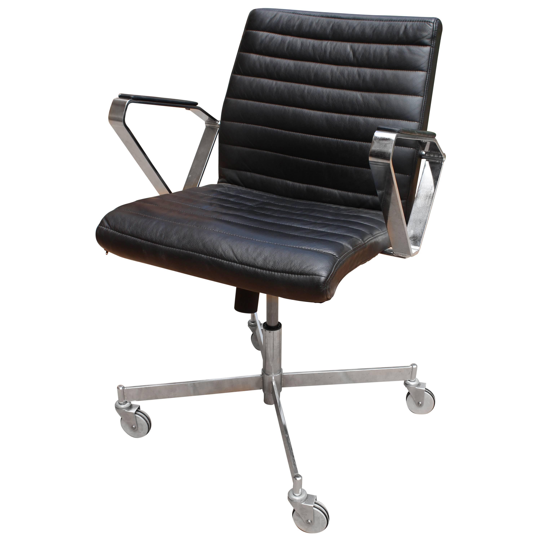 Scandinavian Boria House Design Vitesse Office Swivel Leather Chair For Sale At 1stdibs