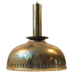 Scandinavian Brass Ceiling Lamp by ASEA, 1950s