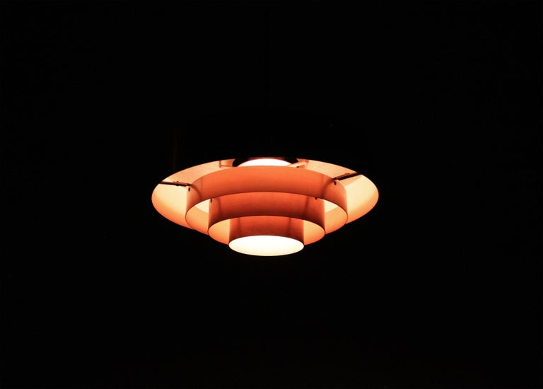 Mid-20th Century Scandinavian Ceiling Light in Copper by Jo Hammerborg, Denmark, 1950s For Sale