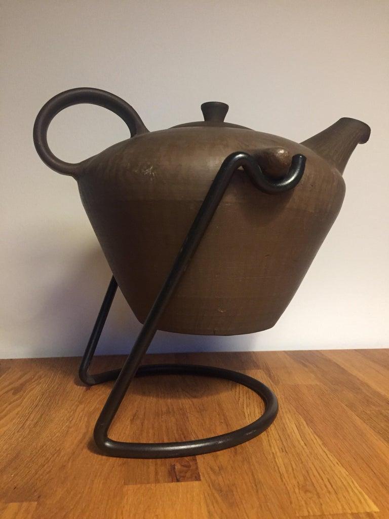 Scandinavian Modern Scandinavian Ceramic Teapot For Sale