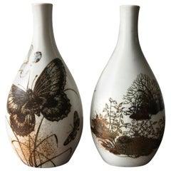 Skandinavische Keramik-Vasen von Nils Thorsson für Royal Copenhagen, 1960er Jahre