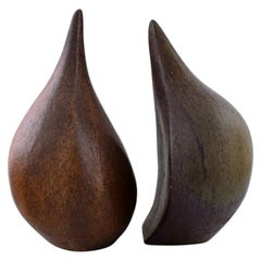 Scandinavian Ceramist, a Pair of Large Unique Sculptures in Ceramics