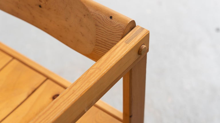 Scandinavian Chair in Pine by Edvin Helseth in 1964 for Trybo Furniture, Norway For Sale 5