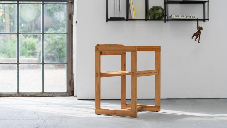 Scandinavian Chair in Pine by Edvin Helseth in 1964 for Trybo Furniture, Norway For Sale 7