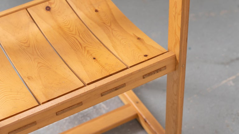 Scandinavian Chair in Pine by Edvin Helseth in 1964 for Trybo Furniture, Norway For Sale 9