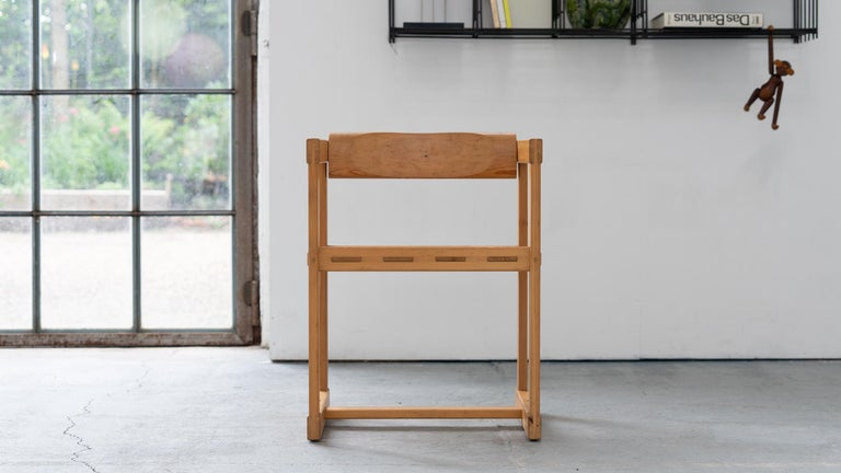 Scandinavian Chair in Pine by Edvin Helseth in 1964 for Trybo Furniture, Norway For Sale 10