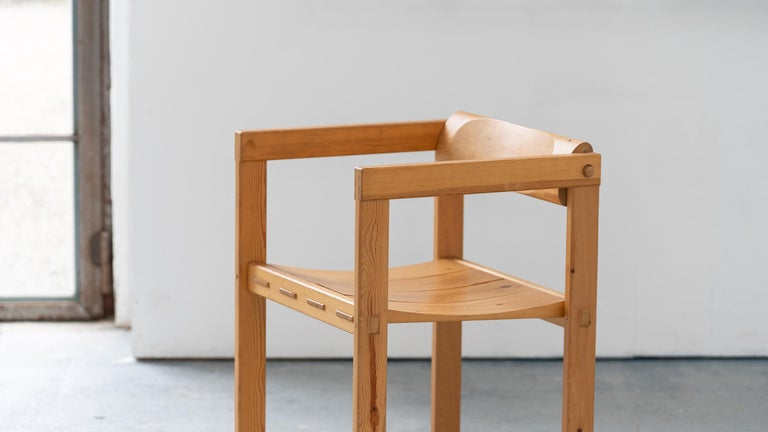 Scandinavian Chair in Pine by Edvin Helseth in 1964 for Trybo Furniture, Norway For Sale 11