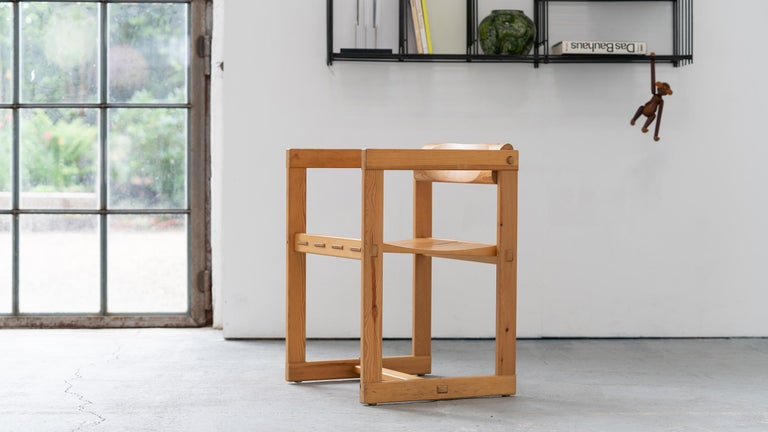 Scandinavian Modern Scandinavian Chair in Pine by Edvin Helseth in 1964 for Trybo Furniture, Norway For Sale
