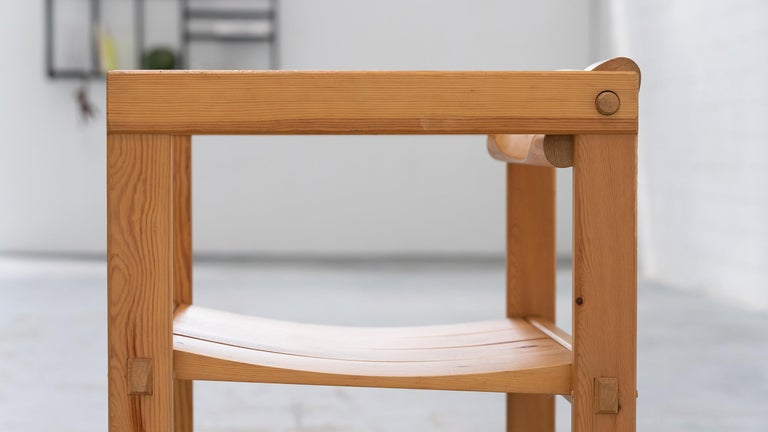 Scandinavian Chair in Pine by Edvin Helseth in 1964 for Trybo Furniture, Norway In Good Condition For Sale In Munster, NRW